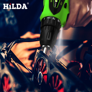 Image 5 - HILDA 12V Electric Screwdriver Lithium Battery Rechargeable Parafusadeira Furadeira Multi function Cordless Electric Drill