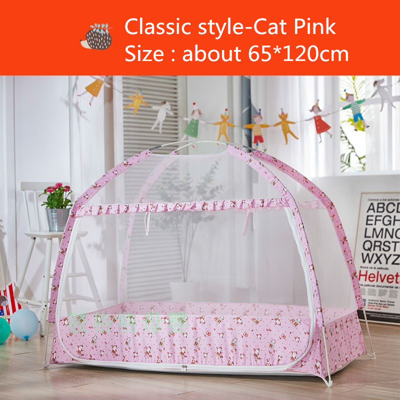 Baby Bedding Travel Outdoor Arched With Mattress Mosquito Net Portable Cartoon Ship Home Insect Protection Summer Baby Kid Crib Foldable Mother & Kids