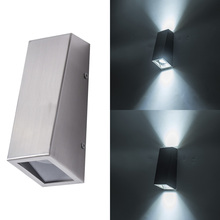 UP and Down porch lamp Stainless steel led wall lights with GU10 bulb led outdoor wall light industrial decor