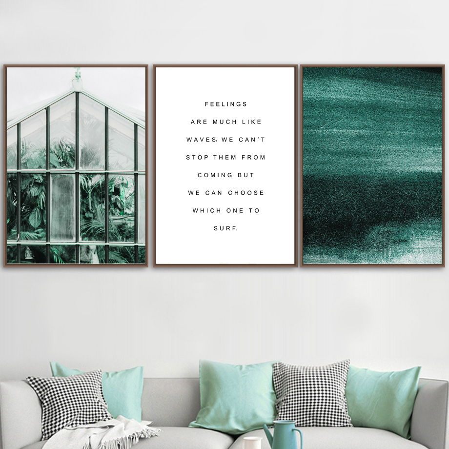 Tropical Plant Leaves Line Drawing Quotes Wall Art Canvas Painting Nordic Posters And Prints Wall Pictures For Living Room Decor in Painting Calligraphy from Home Garden