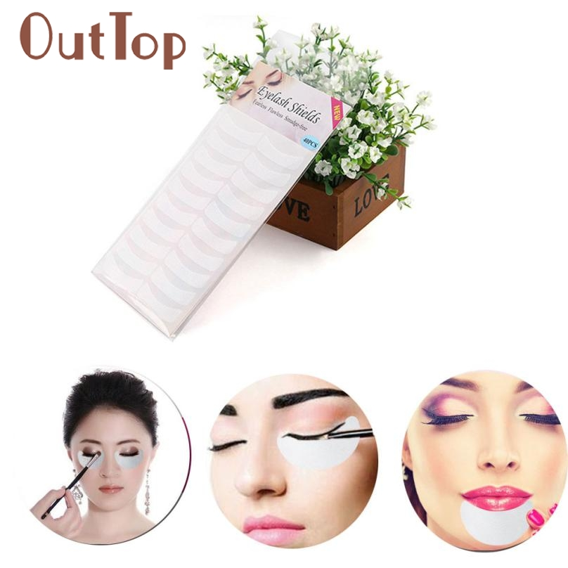 40 PC Women Girls Grafting Eyelash Extension Stickers Under Eye Pad Makeup 0328A5Down