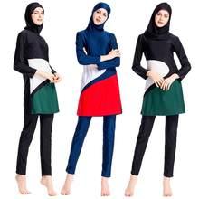 b2cbd0625f Women Muslim Swimwear Full Cover Swimsuit Burkini Islamic Beachwear Bathing  Suit(China)