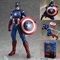 Figma 266 Капитан Америка мстители ПВХ Фигурку Коллекционная Модель Игрушки 16 см HRFG434
