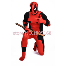 Cool Men Deadpool Costume Marvel Superhero Costumes X-Men Movie Wade Wilson Cosplay Deguisement Halloween Deadpool Costume