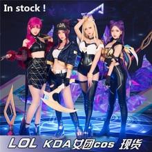 Anime 2019 LOL KDA Group Idol singer new skin Akali Ahri Evelynn Kaisa cosplay costumes For Christmas Sexy costume A