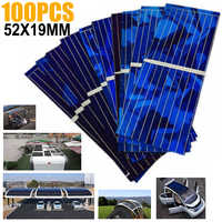 100 шт./компл. панели солнечных батарей 0,5 V 320mA панели солнечных батарей DIY батареи заряда 52*19 мм