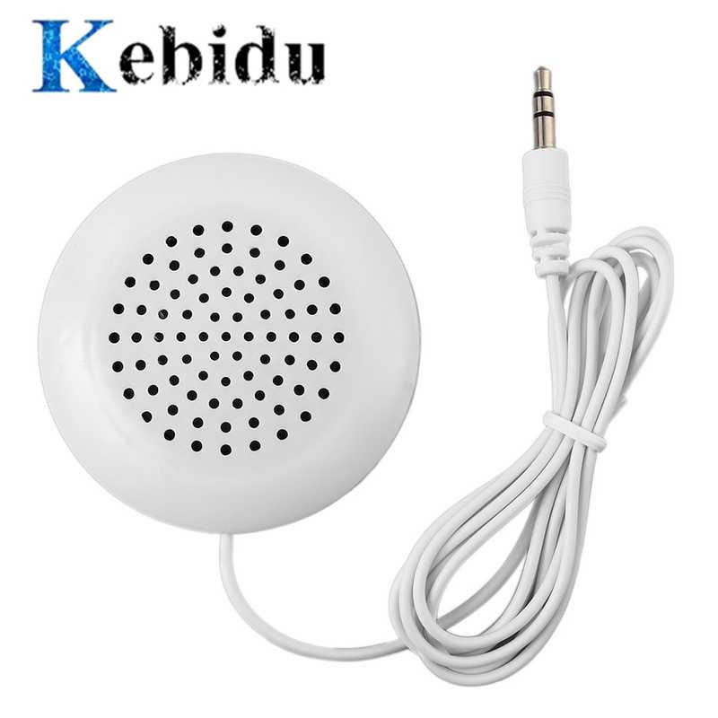 Kebidu 3,5mm Mini almohada Altavoz manos libres para iPod para dormir MP3 MP4 reproductor de música PC de la tableta del teléfono móvil del ordenador portátil