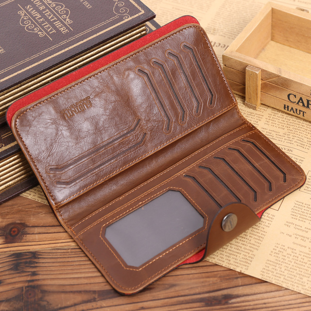 Leather Long Wallet Credit Card Holders Bags and Wallets Unisex color: 143StyleA|143StyleB|143StyleC|143StyleHoleA|143StyleHoleB|143StyleHoleC|Digital|Hole|HoleDigital|HoleHunter|HoleLetter|Hunter|Letter