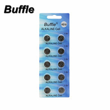 Buffle Watch Battery 10Pcs 1.5V AG10 LR54 LR1130 L1131 389 189 Alkaline Batteries