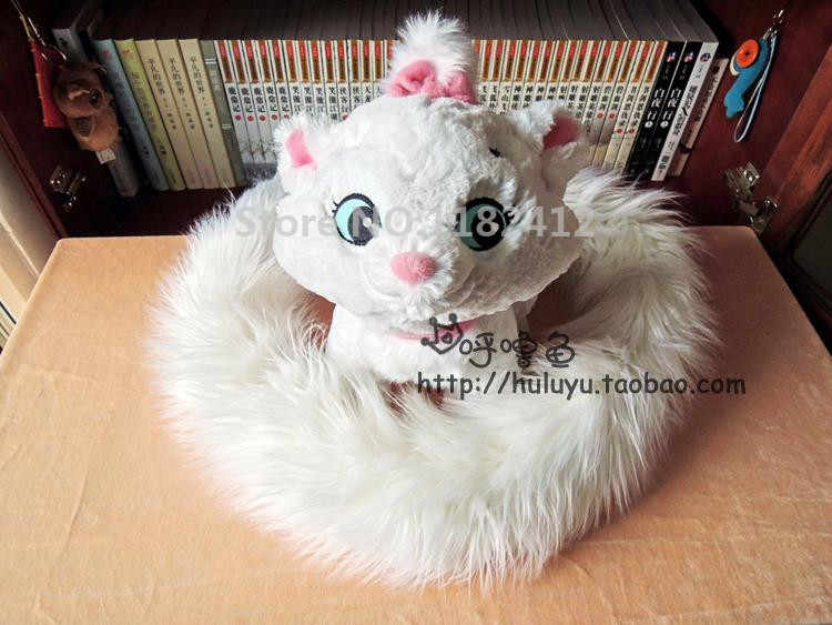 Marie gato brinquedo de pelúcia cauda longa edição gatinho branco aristocats bonito brinquedos macios para crianças crianças meninas presentes natal