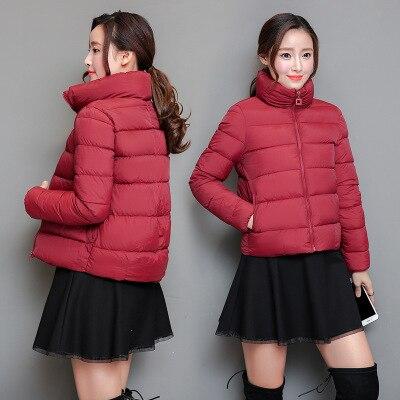 2018 Women Winter Coat Short Slim Thickened Turtleneck Warm Jacket Down Cotton Padded Jacket Outwear Cotton coat