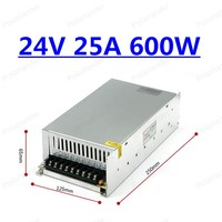 switching power supply control Electric adapter Input 100~240V 50/60Hz Output 24V 25A For DC monitor AC to DC 24V 25A output     -