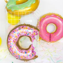 Doughnut Popcorn Candy Foil Latex Balloons Donut Themed Party Decorations Baby Shower Birthday Decor Supplies