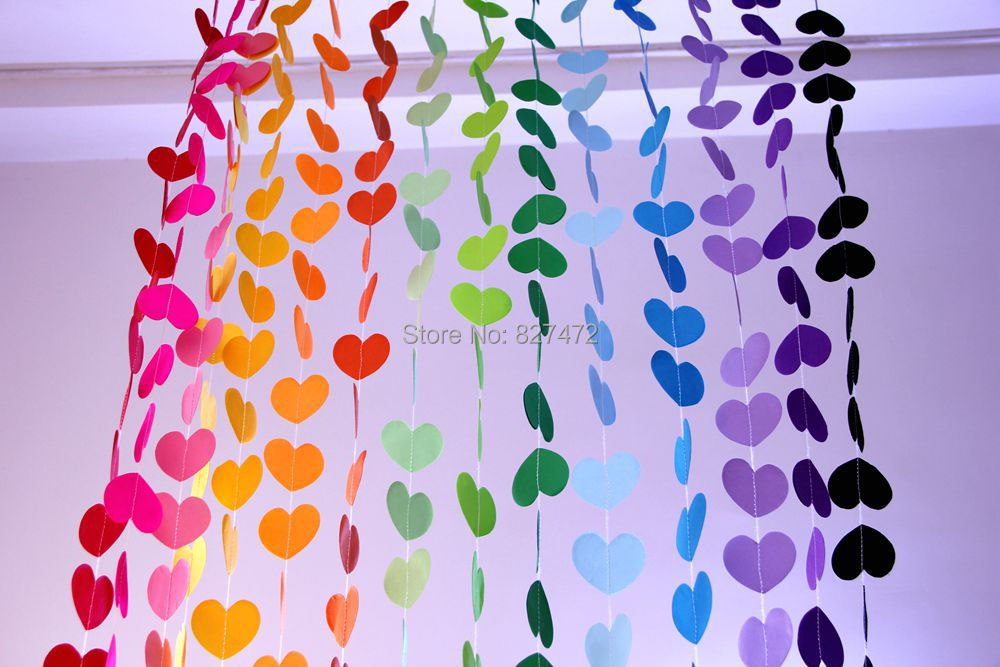 10 HEARTS HANGING DECORATION Home Wedding Venue Decoration Nursery Favour Party