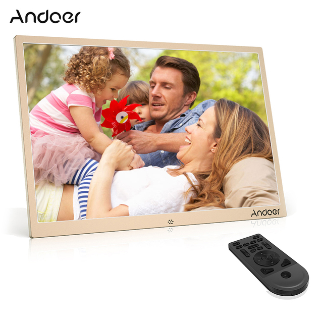 Andoer 17inch Led Digital Photo Frame 1080p Support Play Aluminum