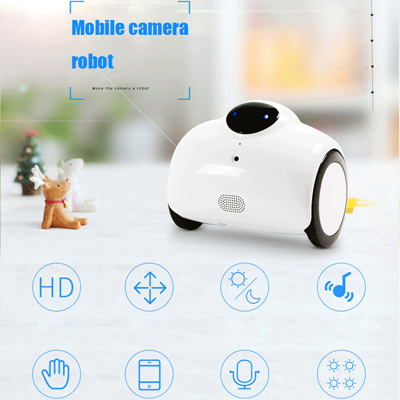 NEW HD Webcam Robot  Camera Built In Battery WIFI Mic Speare Support Mobile Remote Control For IOS Android Mobile Phone(China)