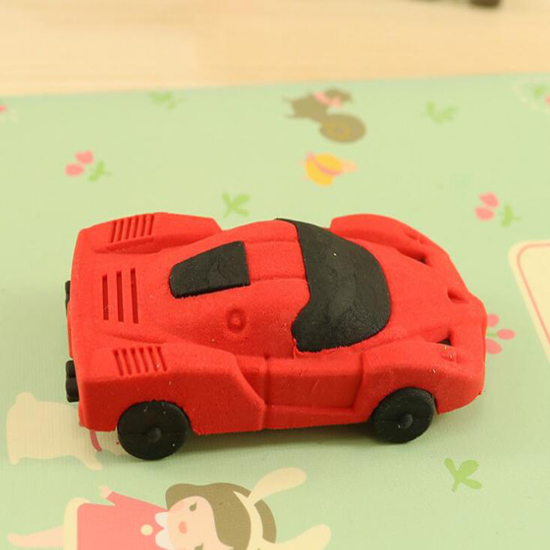 Creative DIY Car Cartoon Eraser Novelty Cute Kawaii Eraser Child Student Learning Gift Stationery School Office Supplies