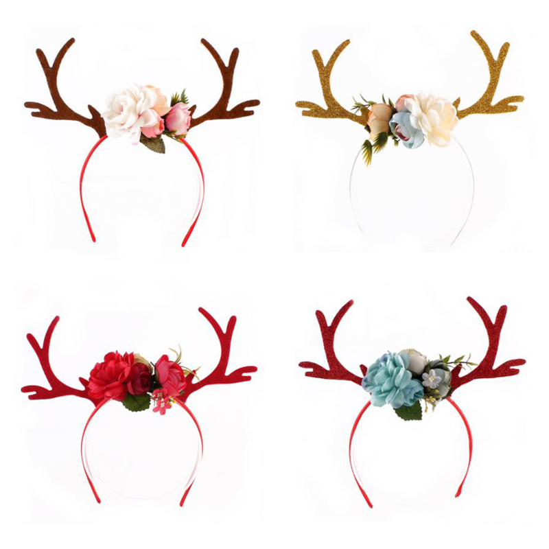 Fashion Little Spotted Elk Christmas Antler Ear Band DIY Deer Hair Band