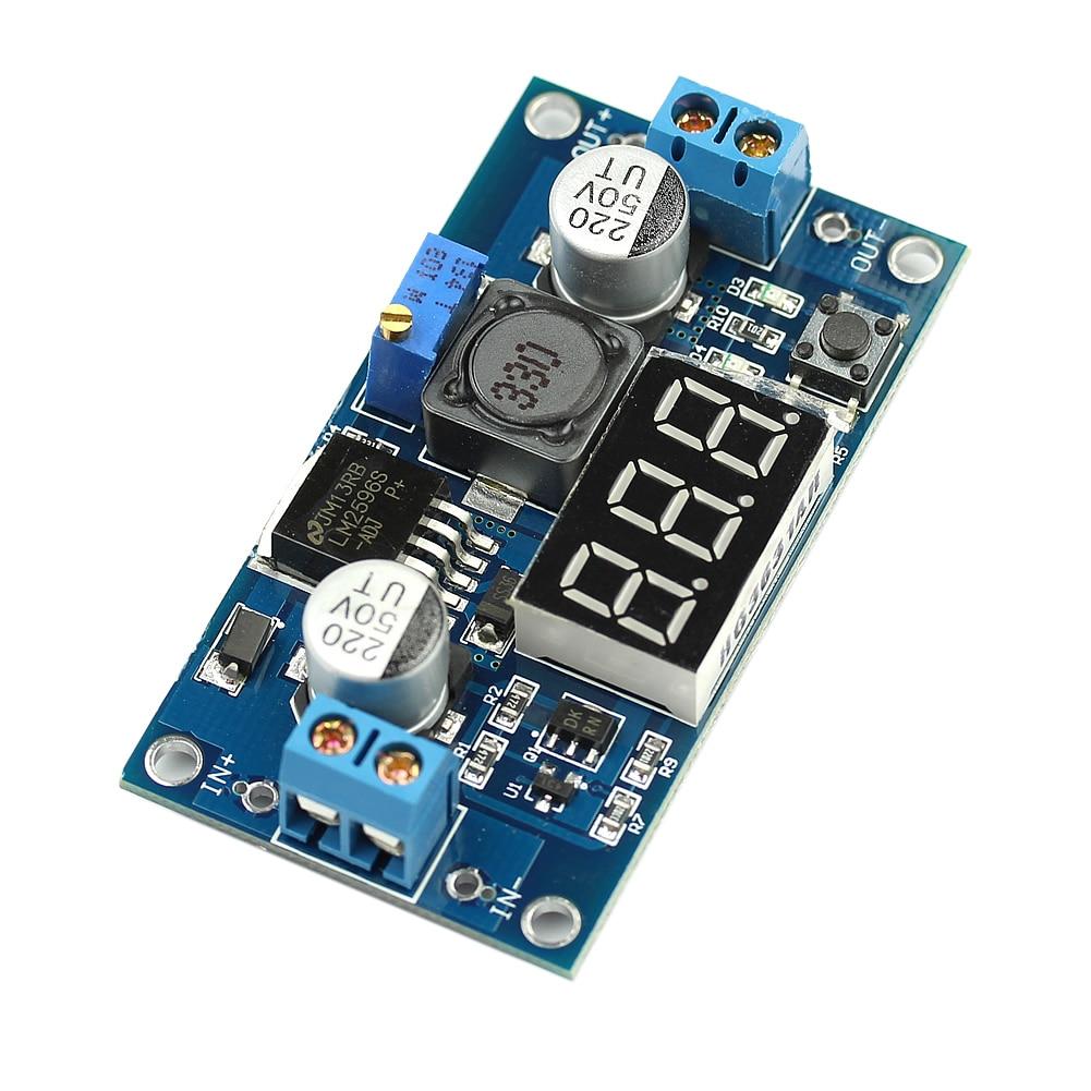 1 Pc Dc 4 V-40 V Zu 1 V-37 V Lm2596 Einstellbar Step Down Power Converter Led Voltmeter