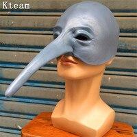 2018 New Hot Long Nose Woodpecker Mask Rubber Latex Mask Holiday Slipk Animal Maske Photo Venice Photography Props