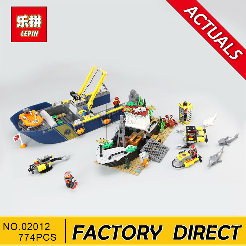 Lepin 02012 Deepwater Exploration Vessel Children Educational Building Blocks Bricks Toys Model Funny Boy Gift 60095 in stock lepin 02012 774pcs city series deepwater exploration vessel children educational building blocks bricks toys model gift