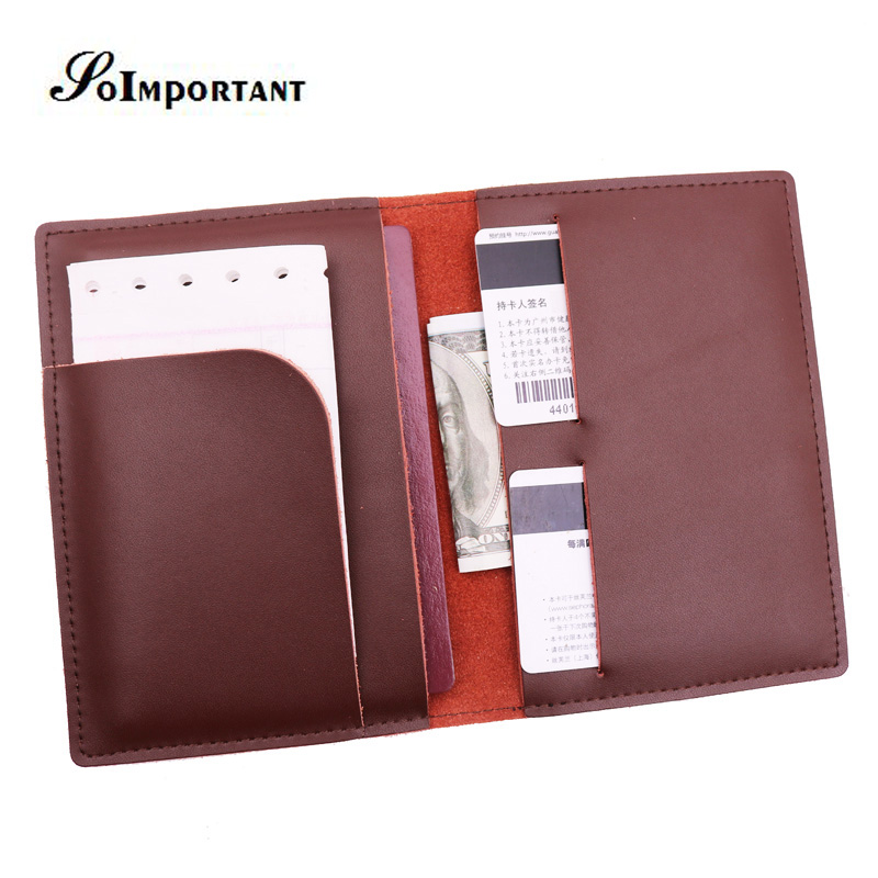 Vintage Genuine Leather Passport Cover Wallet Travel Passport Holder Women & Men Document Organizer Wallets Card Holder Business купить