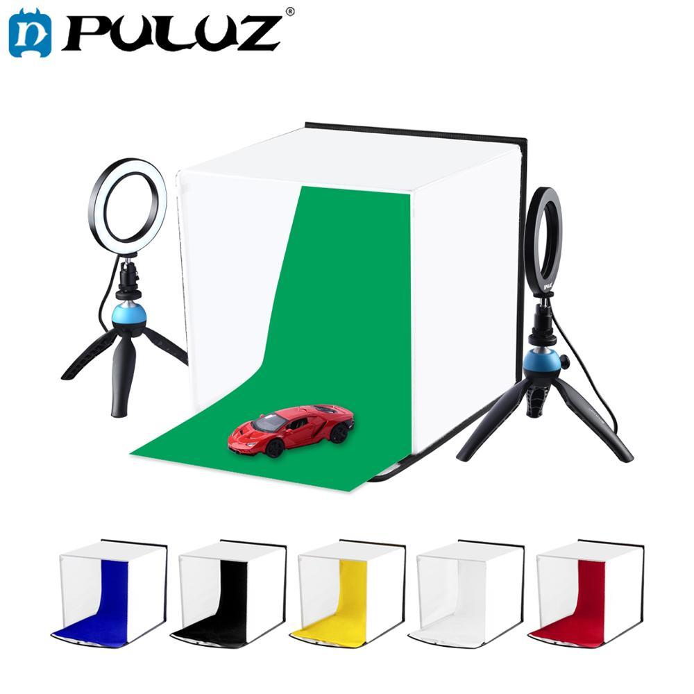 PULUZ 30 cm Photo Softbox Portable pliable Studio tente de tir Kits avec 6 couleurs décors (rouge, vert, jaune, bleu, blanc