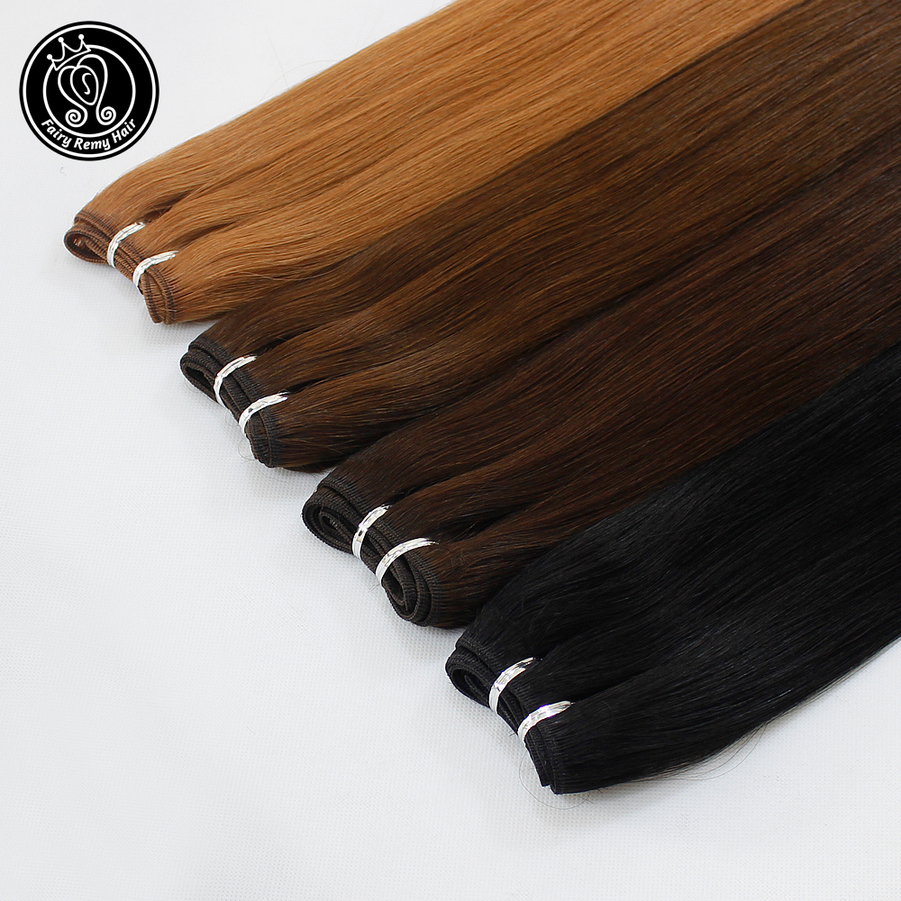 Fairy Remy Hair 100g/pc 18 Inch Real European Straight Human Hair Bundles Weft Highlight Piano Color Human Remy Hair Weaves-in Hair Weft from Hair Extensions & Wigs    1