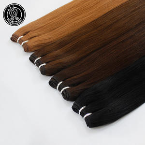 Remy-Hair Bundles Weaves Highlight Piano-Color 18inch Weft European Real Fairy Straight