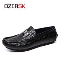 OZERSK Italian Mens Shoes Casual Luxury Spring Men Loafers Genuine Leather Moccasins Breathable Slip On Men Boat Casual Shoes