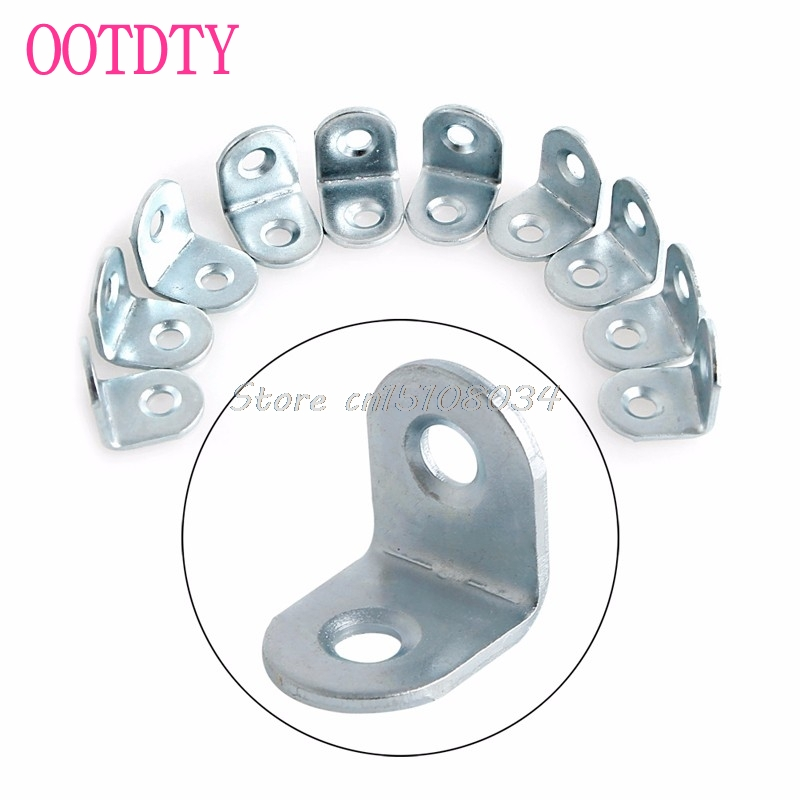 10Pcs 2cmx2cm Zinc Plated Corner Brace Joint Right Angle Bracket L Shape Hot S08 Drop ship