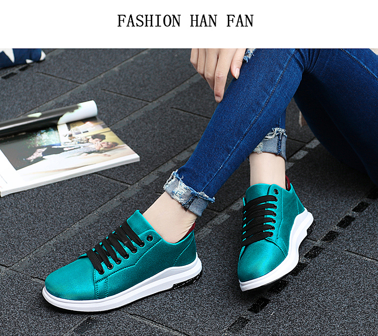 Stretch Fabric Casual Shoes Woman 2017 Fashion Spring Lace Up Ladies Shoes Breathable Women\'s Vulcanize Shoes Superstars ZD68 (18)