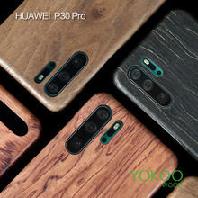 Voor Huawei P30/P30 Pro/P30 Lite/P20 /P20 Pro/P20 Lite/P40 Walnoot enony Echt Hout Palissander Mahonie Houten Slim Case Cover