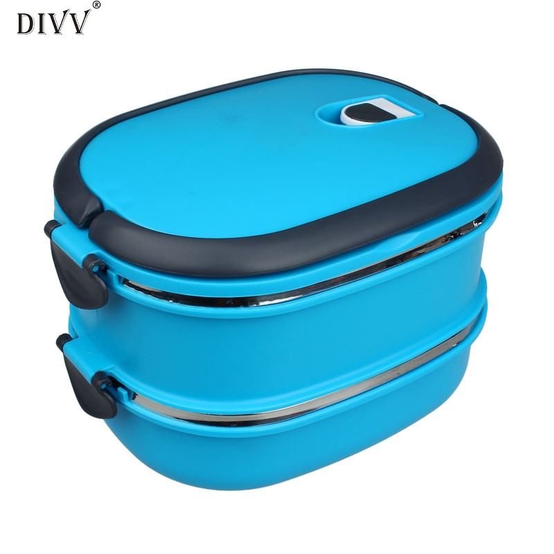 DIVV Happy home Picnic Lunch Box Travel Students Office Workers Owl Lunch Food Container Box Storage Box Portable Bento Box