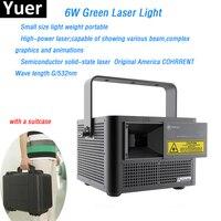 6 W зеленый лазерный свет высокое Мощность луч графика анимации эффект зеленый лазерный диод Верде DMX512 для свадьбы Бар Дискотека Свет этапа