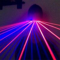T99 Red laser light glasses disco blue laser dj glasses ballroom dance laser costumes laser man show colorful disco projector