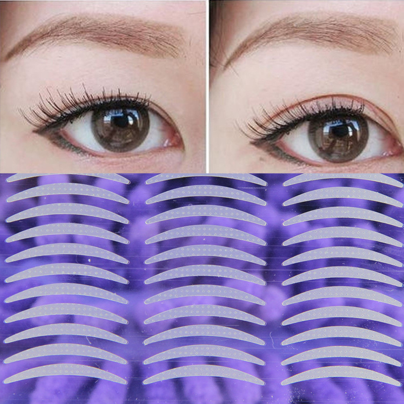 YOKPN 480 Pcs Double Eyelid Tape Invisible Double Fold Eyelid Shadow Sticker Natural Makeup Clear Eyelid Strip Eyes Make Up Tool