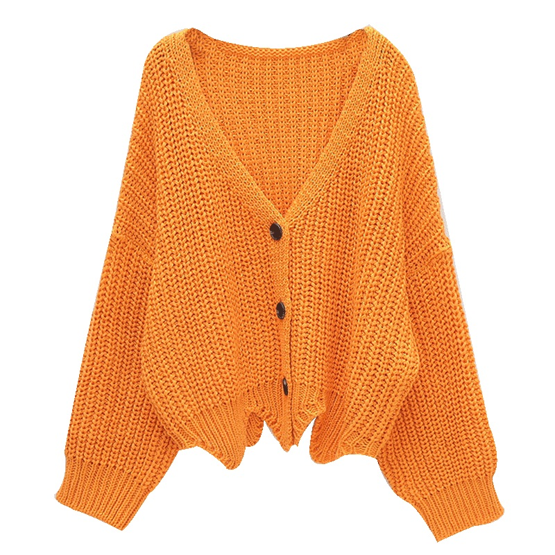 1ce825f44 Autumn Sweater Cardigan Female Wavy Edge Loose Sweater Full Sleeve Single  Breasted Women Cardigan Sweater-in Cardigans from Women s Clothing    Accessories ...