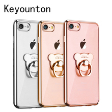 Ring Case For Apple iPhone 6 6S 7 8 Plus Plating TPU Victoria/' secret Cover For iPhone 8 6 7 Cases 4.7 inch 5.5 inch Keyounton