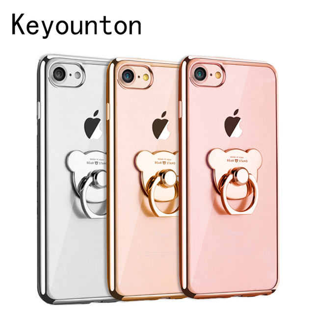 7056aca2bf269 Ring Case For Apple iPhone 6 6S 7 8 Plus Plating TPU Victoria/' secret  Cover For iPhone 8 6 7 Cases 4.7 inch 5.5 inch Keyounton