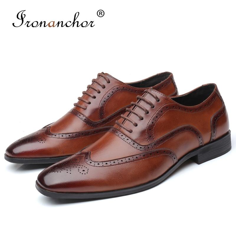 2019 Size 38-48 Men Formal Shoes Office Social Designer Wedding Luxury Elegant Male Dress Shoes #SY-R7878