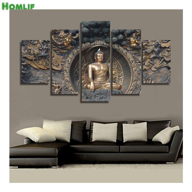 5pcs Buddha statue Diy spuare round diamond painting cross stitch diamond embroidery diamond Rhinestones damoind full
