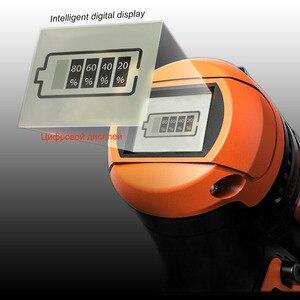 Image 4 - Tournevis électrique 21V perceuse sans fil pilote de puissance sans fil batterie Lithium Ion cc 3 / 8 pouces 2 vitesses affichage de batterie intelligente
