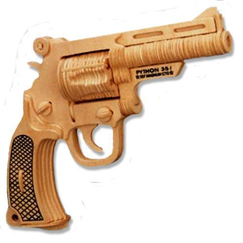 Free shipping!  3-D Wooden Puzzle -Bull Dog Pistol -Affordable Gift for your Little One!