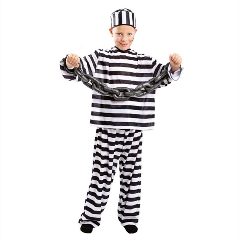 ab46617061c New Style Children Prison Cloth Small Boy Prisoners Festival Act Costumes  Halloween Costume