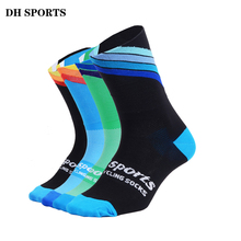 DH SPORTS 2018 New Professional Cycling Socks Men Women Outdoor Road Bicycle Bike Socks Brand Running Compression Sport Sock