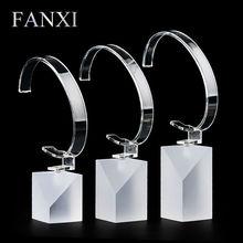 Gratis FANXI encargo del envío gratis pulsera del soporte de exhibición para joyas y relojes demostración departamento mate acrílico reloj del soporte de exhibición