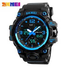 SKMEI New Fashion Men Sports Watches Men Quartz Analog LED Digital Clock Man Military Waterproof Watch Relogio Masculino 1155B skmei shock men quartz digital watch men sports watches relogio masculino led military waterproof digital wristwatches black