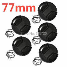 10pcs/lot 77mm center pinch Snap on cap cover for camera 77 mm Lens