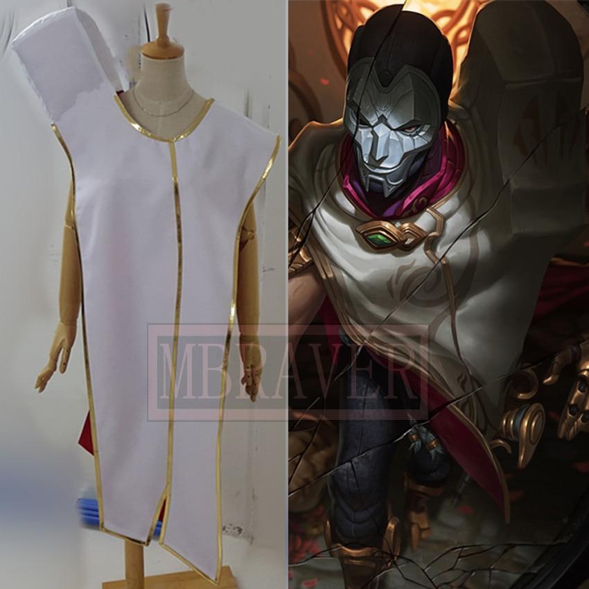 The Virtuoso Khada Jhin Anime Custom Made White Cloak White Cosplay Costume